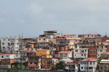 Housing on Victor Lamon Avenue. Fort-de-France, Martinique