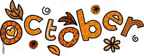 October Clip Art - 70629943