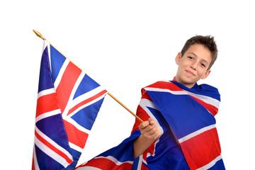 Prêt pour l'anglais 01 - Enfant drapeau Union Jack