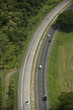 Aerial view of Panamericana highway, Panama, Central America