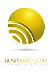 Business logo gold coin design