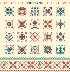 20 seamless patterns, Colourful vector patterns