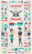 Hipster infographic elements, vector template