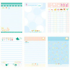 Paper Notebook Color Blue style