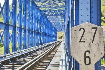 Blue steel bridge