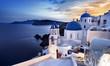 Leinwanddruck Bild - île de Santorin Cyclades Grèce Village de Oia