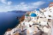 Leinwanddruck Bild - île de Santorin Cyclades Grèce Villade de Oia