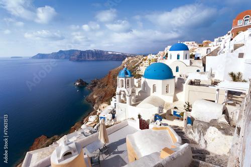 Leinwanddruck Bild île de Santorin Cyclades Grèce Villade de Oia