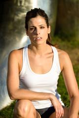 Sporty fitness woman portrait