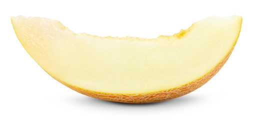 juicy slice of melon isolated on the white background
