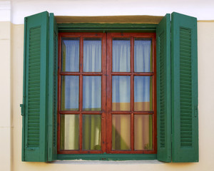 Athens Greece, vintage house window