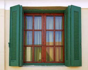 Athens Greece, vintage house window