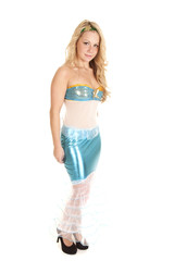 woman full body costume mermaid