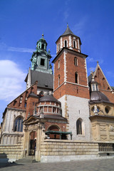The Gothic Wawel Castle Krakow in Poland