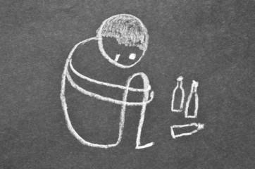 Alkoholkrankheit abstrakt