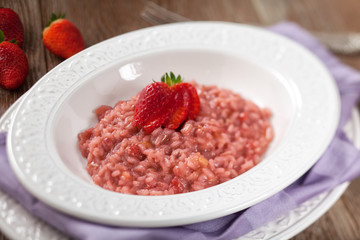Risotto With Strawberries.