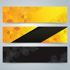 Collection banner design vector.