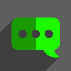 Chat speech bubble flat icon