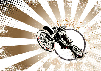 retro motocross poster background