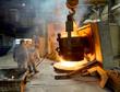 Abstich am Hochofen in Gießerei // Teamwork in factory