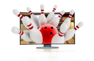 3D television with bowling pins
