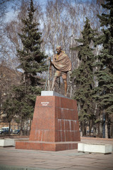 Mahatma Gandhi. The monument in Moscow, Russia.