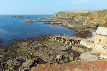 Disused lifeboat station house the Lizard Cornwall uk