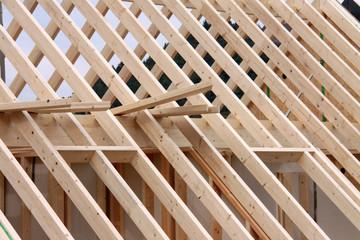 Dachstuhl im Bau