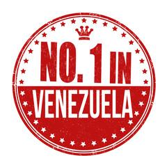 Number one in Venezuela stamp