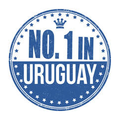 Number one in Uruguay stamp