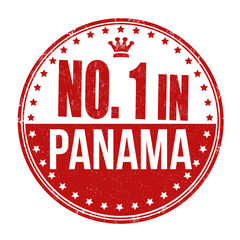 Number one in Panama stamp