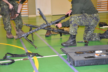 Military weapons demonstration