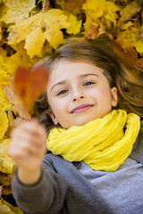 Autumn  - young girl enjoying autumn