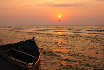 Morning sea  landscape at the sunrise