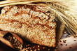 Closeup on traditional sesame bread