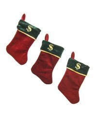 Christmas Stockings With Dollar Signs