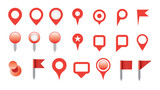 map pin icon set. poster