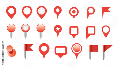 map pin icon set.