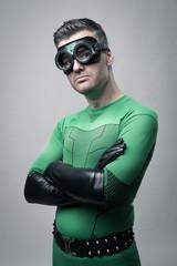 Cool superhero posing