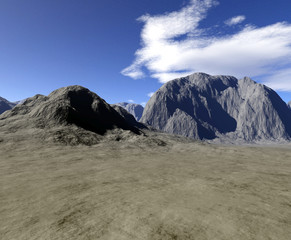 Digital render of landscape