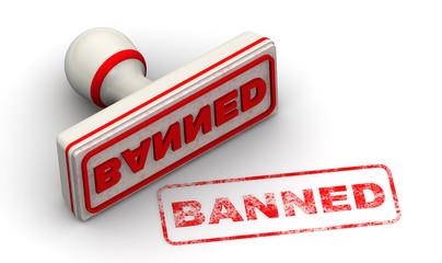Запрещённый (banned). Печать и оттиск
