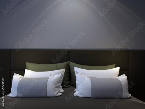 modern double bedroom - 70637342