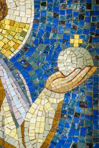 Mosaico Gesù e Vergine Maria, sfondo con trama © Andreaphoto
