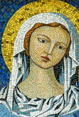 Mosaico Madonna Vergine Maria, sfondo con trama