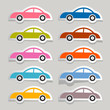 Vector Colorful Paper Cars Set