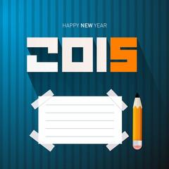2015 - Happy New Year Vector Illustration