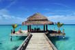 Leinwanddruck Bild - Steg Malediven