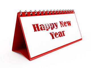 Happy New Year Calendar - isolated