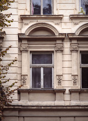 Architectural details of old Lviv buildings. Lviv is a city in w