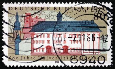 Postage stamp Germany 1986 Heidelberg University